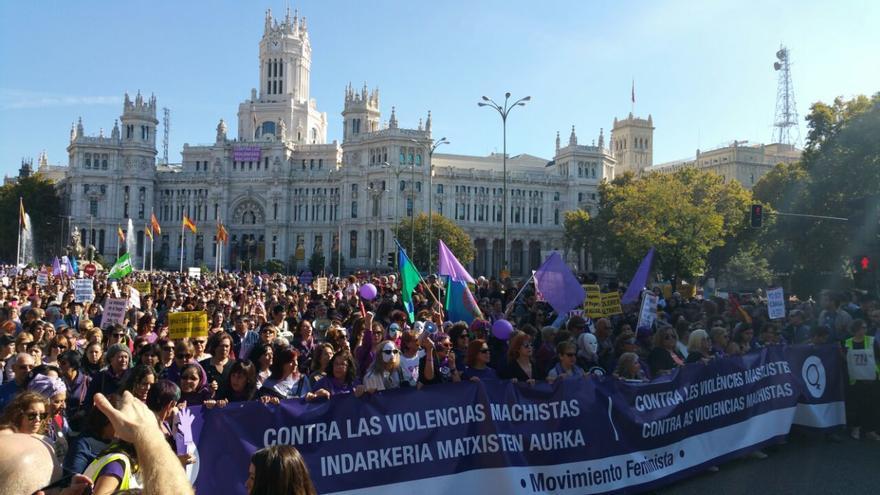 La manifestación del 7N en la plaza de Cibeles. / Mercedes Domenech