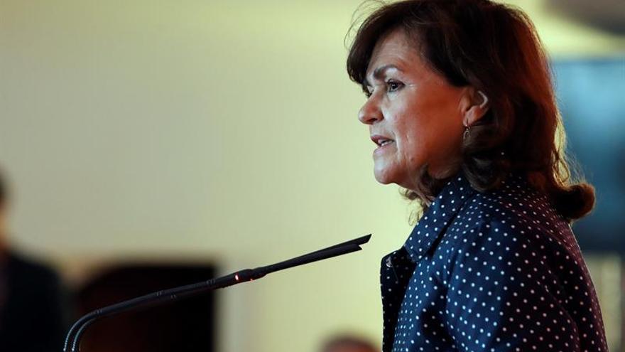 """Calvo llama a """"redoblar los esfuerzos"""" el 8 de marzo contra la ultraderecha"""