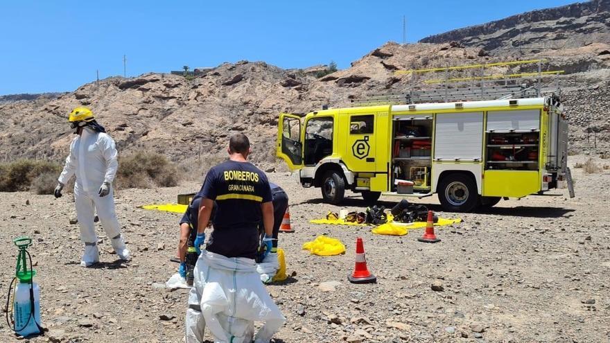 Bomberos de Gran Canaria, en el servicio donde activaron el protocolo de riesgo biológico