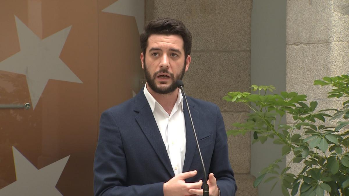 César Zafra, portavoz de Cs en la Asamblea de Madrid.