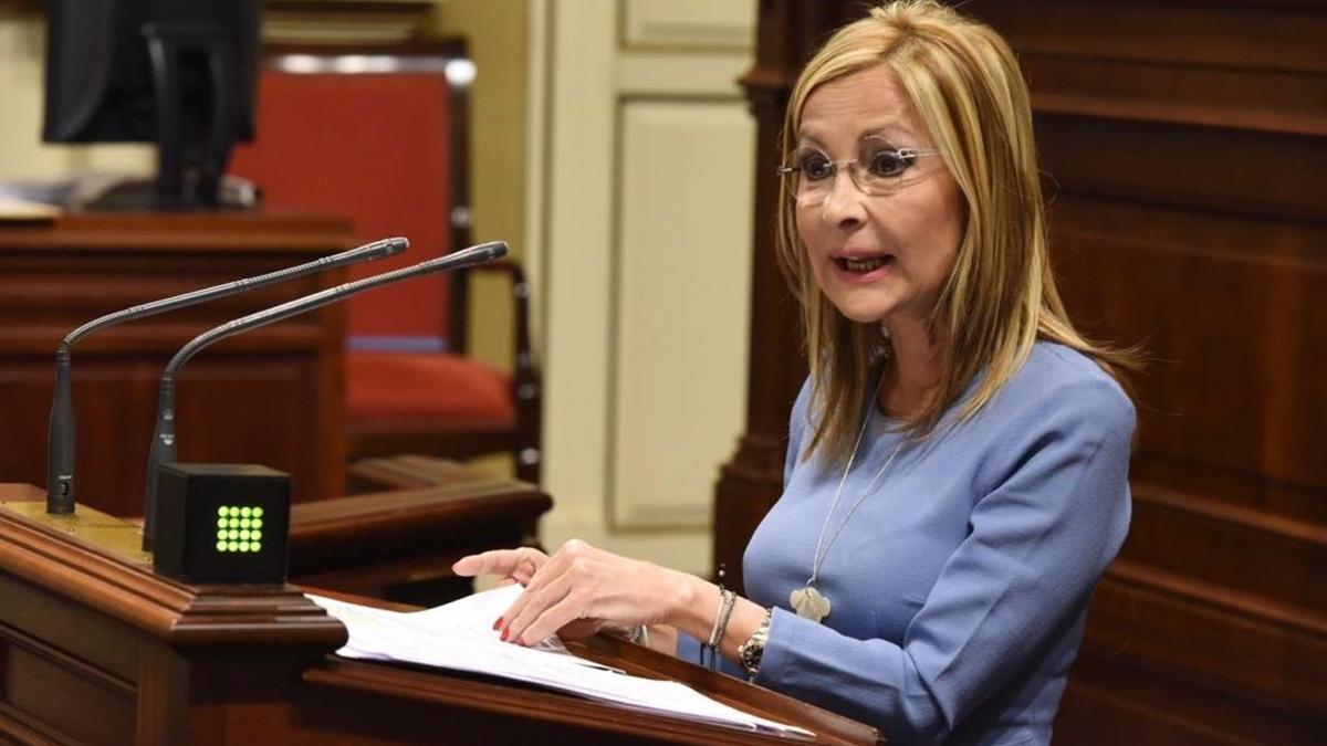 Australia Navarro, en el Parlamento de Canarias