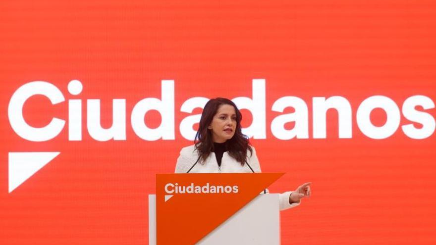 La presidenta y portavoz del grupo parlamentario de Cs en el Congreso, Inés Arrimadas.
