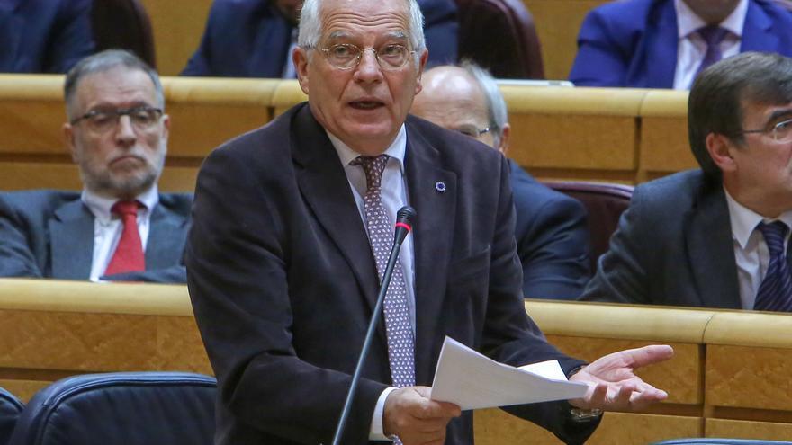 """AMP- Borrell admite que el Gobierno ha tenido """"poco éxito"""" en rebajar la crispación en Cataluña pero no quiere el 155"""
