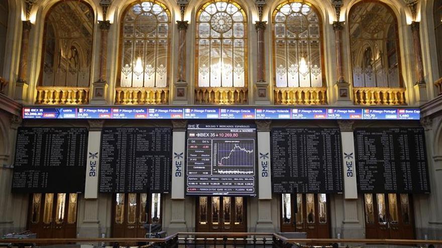 La Bolsa española apunta a los 10.400 puntos al subir un 0,48 %