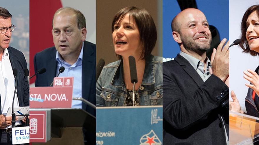 Feijóo, Leiceaga, Pontón, Villares y Losada