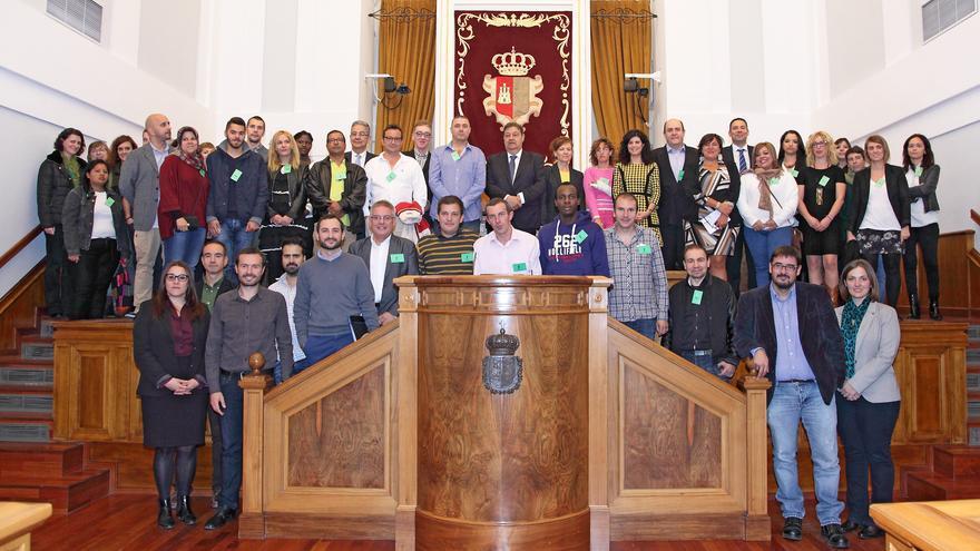 Acto en las Cortes de Castilla-La Mancha con motivo del Día Mundial contra la Pobreza