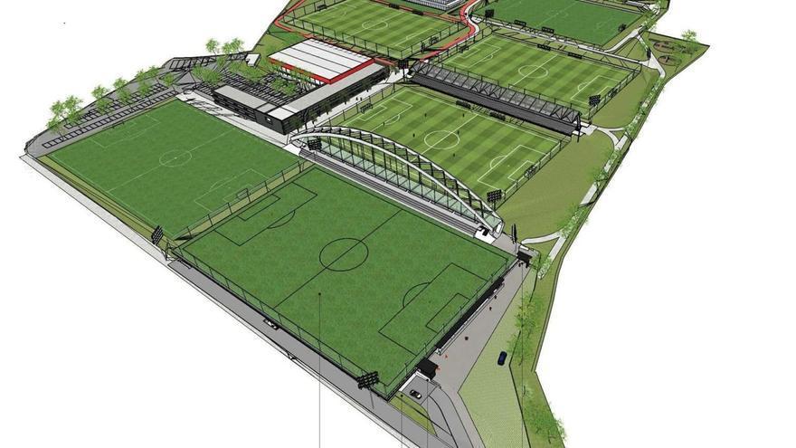 Comienza la construcción de un nuevo campo y aparcamiento para el Athletic Club en Lezama (Bizkaia)