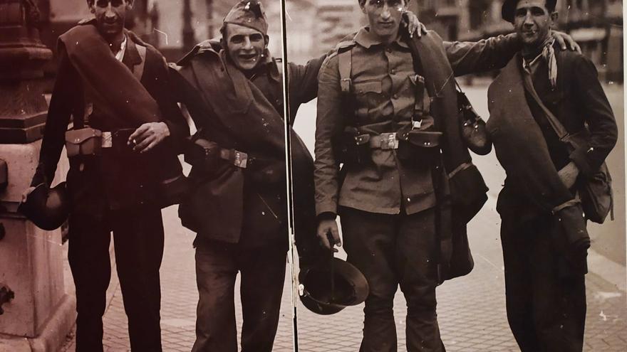 Soldados guipuzcoanos durante la Guerra Civil