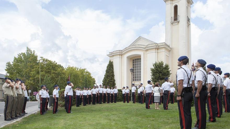 """La Compañía """"Mar Océano"""" de la Guardia Real en un acto oficial / Guardiareal.org"""