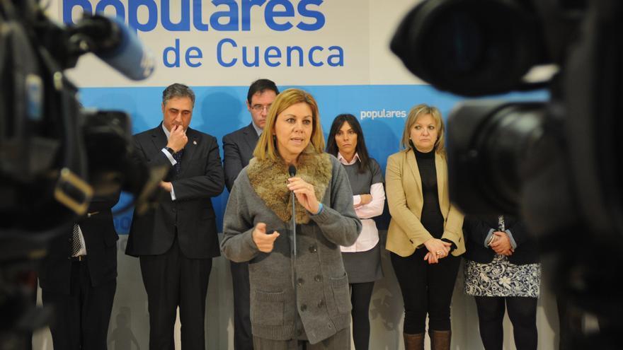 María Dolores de Cospedal en reunión con el PP de Cuenca
