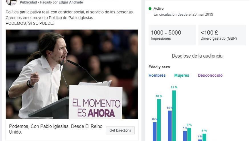 Facebook lanza en España una herramienta para rastrear los anuncios segmentados que los partidos pagan en ...
