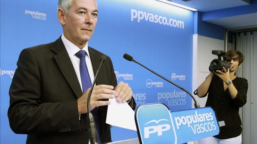 El PP espera que el año que viene Urkullu hable del paro y no de separación