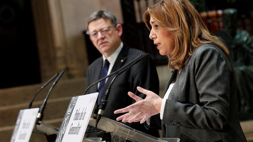 Ximo Puig y Susana Díaz proponen criterios para la financiación autonómica
