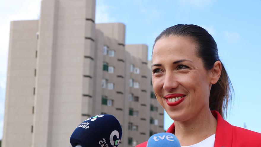Patricia Hernández, este miércoles en el barrio de Ofra