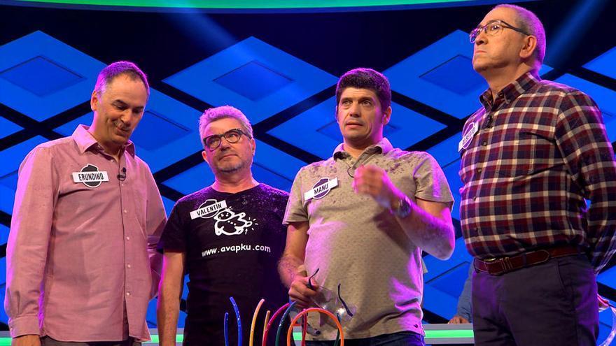 Erundino, Valentín, Manu y Alberto en una de sus participaciones en '¡Boom!'