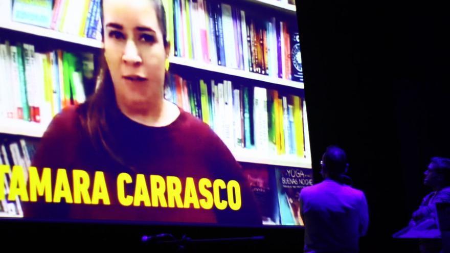 Intervención de Carrasco en un mitin de la CUP en la campaña del 21-D