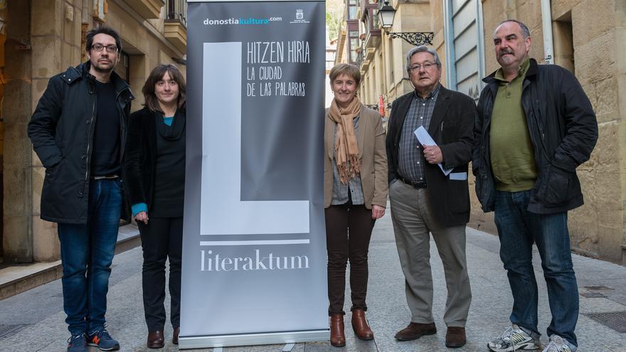 Los responsables de la organización del Festival de literatura Literaktum. Foto: Donostia Kultura.
