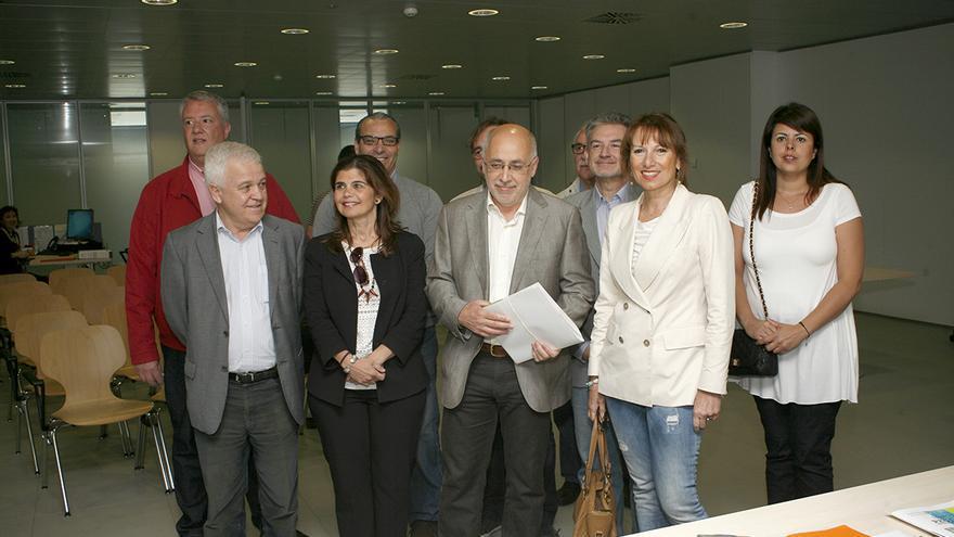 Nueva Canarias Frente Amplio presenta su candidatura al Cabildo de Gran Canaria, encabezada por Antonio Morales. [Foto: ALEJANDRO RAMOS]