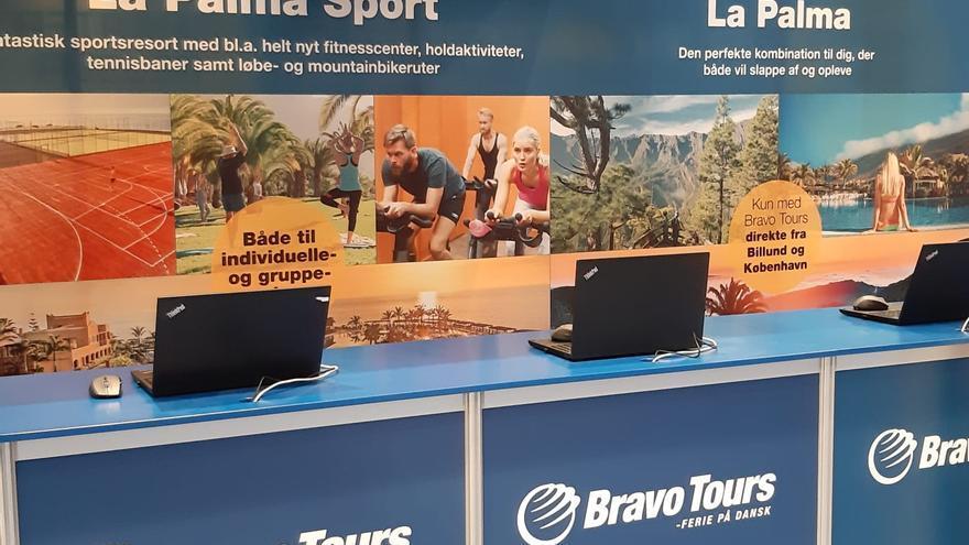 Stand de promoción turística de La Palma.