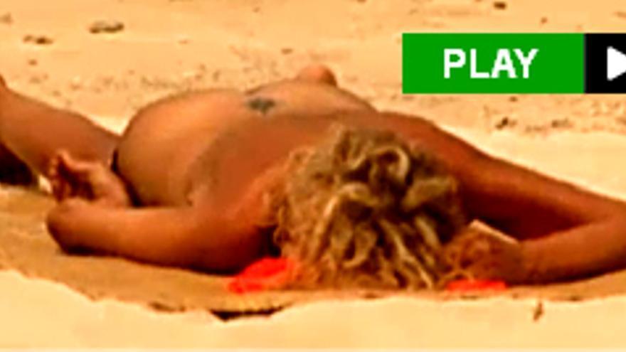 El desnudo integral de Bibiana Fernández en 'Supervivientes'