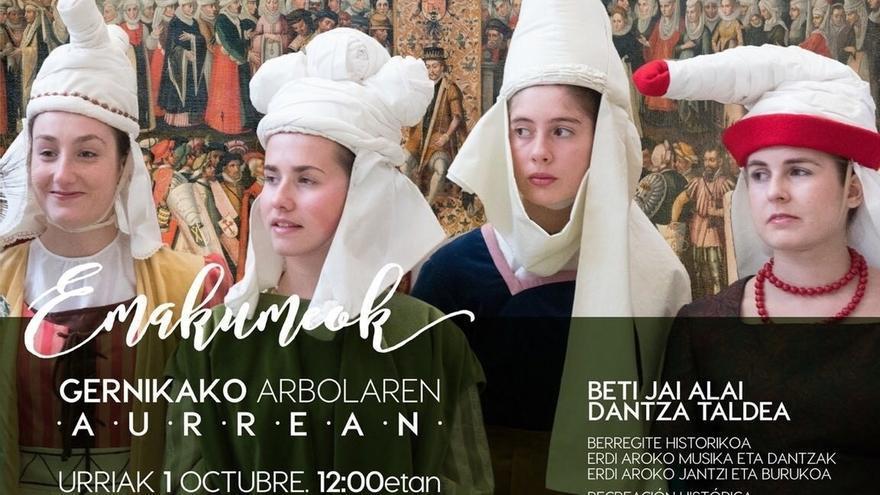 Las Juntas de Bizkaia celebrarán este domingo una recreación histórica para cerrar la exposición 'Emakumeok'
