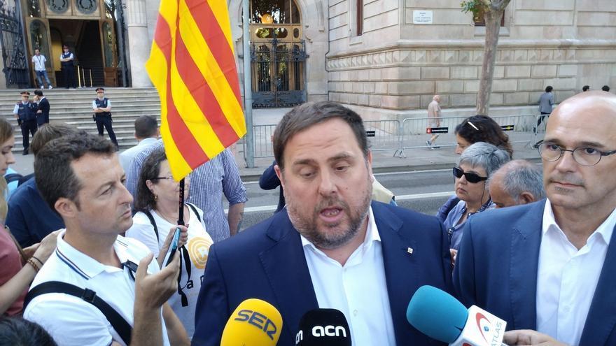 """Junqueras dice que el Estado busca convertir la Generalitat en """"irresponsable y dependiente"""""""