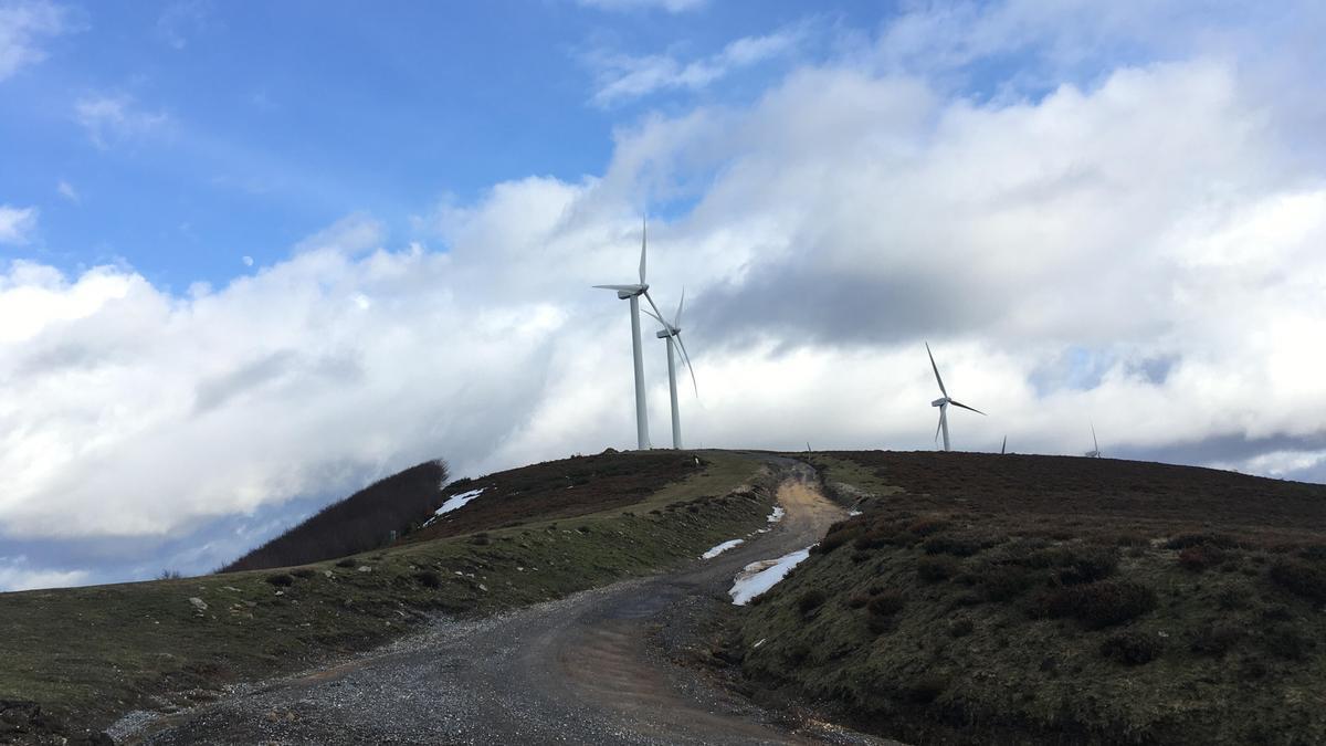 Parque eólico en la sierra de Elgea, Álava