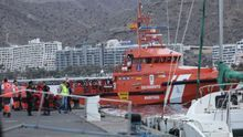Fotogalería | Llegada de una embarcación de Salvamento Marítimo con 152 migrantes a Gran Canaria