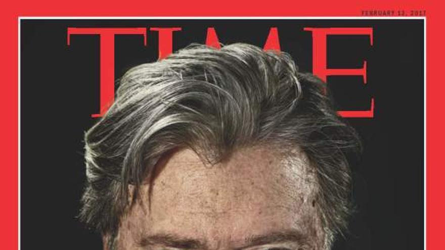 Portada de Time dedicada a Bannon en febrero.