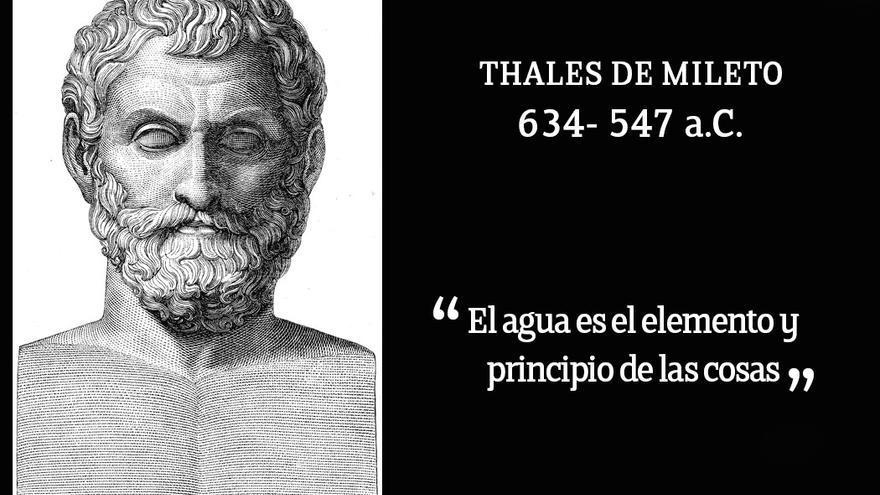 Tales de Mileto, considerado uno de los grandes pensadores de la antigüedad.