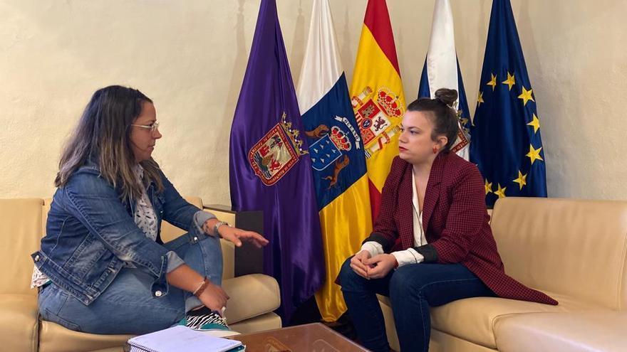 Idaria Afonso y Elena Mateo en el encuentro celebrado este jueves.