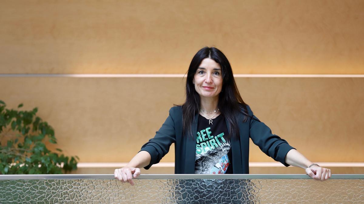 Ruth Merino, portavoz de Ciudadanos en las Corts Valencianes, en el edificio de trabajo de los grupos parlamentarios.