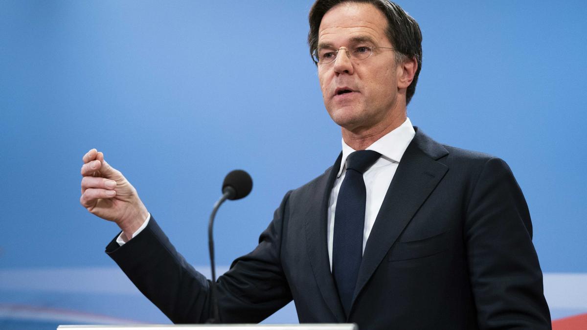 El primer ministro holandés Mark Rutte durante una rueda de prensa en La Haya.