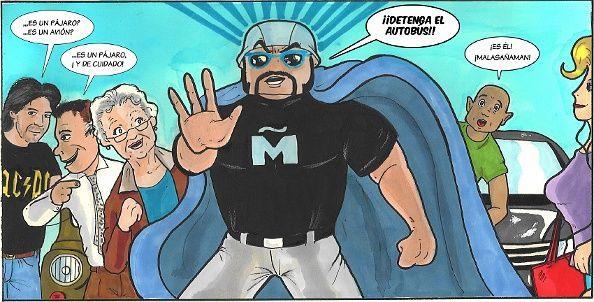 Una de las viñetas de 'La invasión de los etanolitos', primer cómic de Malasañaman