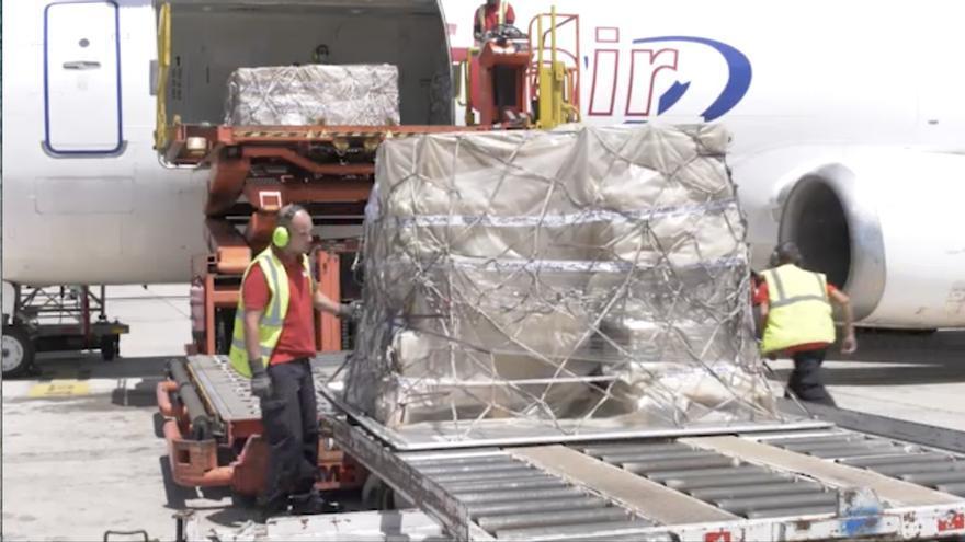 Llegada del nuevo cargamento.