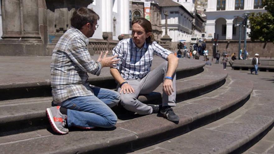 Jordi Évole, con Pablo Iglesias en Ecuador / LaSexta