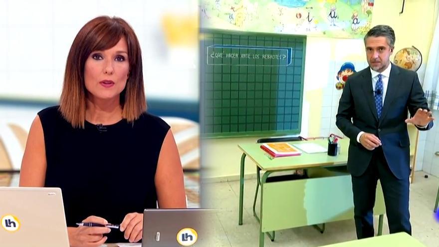 Estreno de 'La hora de La 1' y el 'Telediario 2' desde un colegio