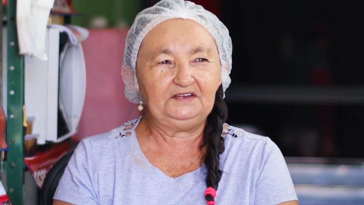 Domícia Maria de Jesus, una de las emprendedoras que ha recibido un microcrédito de Santander Prospera en Brasil.
