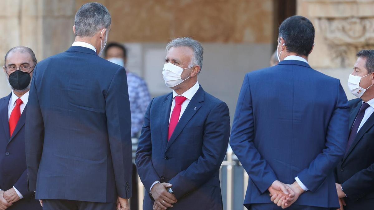 Ángel Víctor Torres, presidente del Gobierno de Canarias, en la Conferencia de Presidentes
