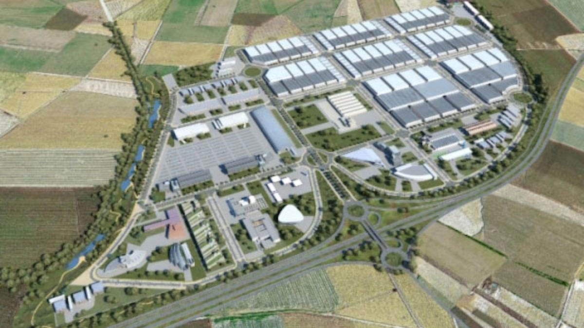 Imagen del proyecto logístico Viasur, donde se podría ubicar ahora la Base Logística del Ejército de Tierra.