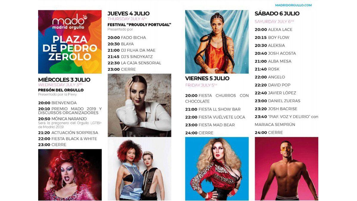 Programa del escenario de Pedro Zerolo MADO 2019 | MADO