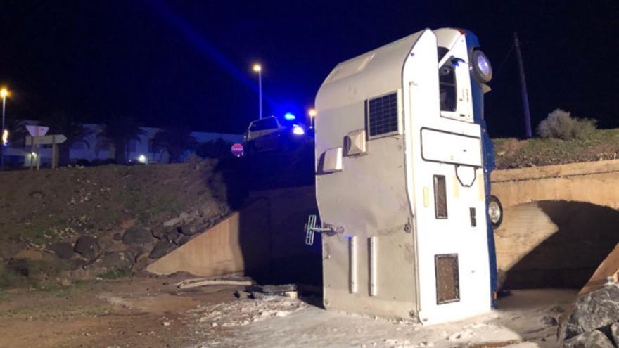 Accidente de caravana.