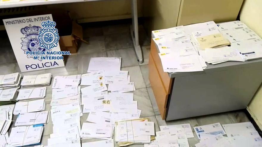 Imagen de las cartas almacenadas por el condenado