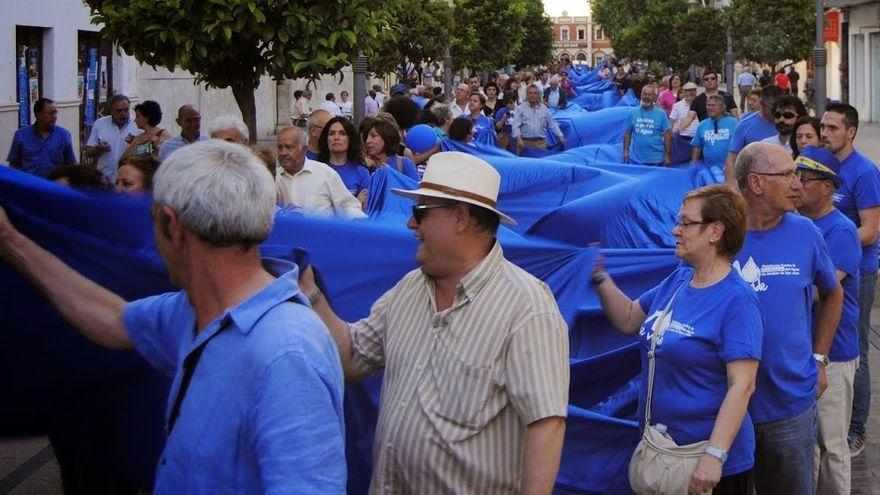 Manifestación en Alcázar de San Juan. Foto: Plataforma en contra de la privatización del agua.