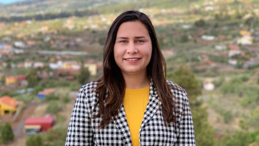 Mónica Gómez, portavoz de CC en el Ayuntamiento de Puntagorda.