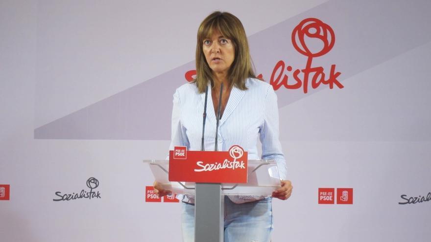 """Mendia (PSE) advierte de que votar al PP """"absuelve corruptos"""" y que apoyar a Podemos """"mantiene el bloqueo"""""""