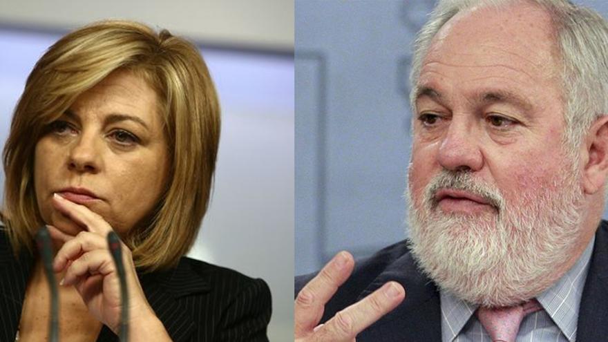 Elena Valenciano y Miguel Arias Cañete, candidatos de PSOE y PP a las europeas