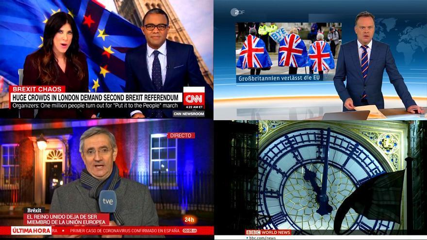 Así se contó el Brexit en las televisiones de todo el mundo: de la BBC al Canal 24 horas