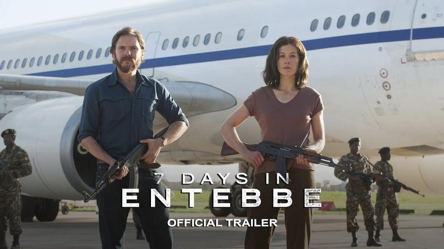 Imagen del tráiler de la película '7 días en Entebbe'.