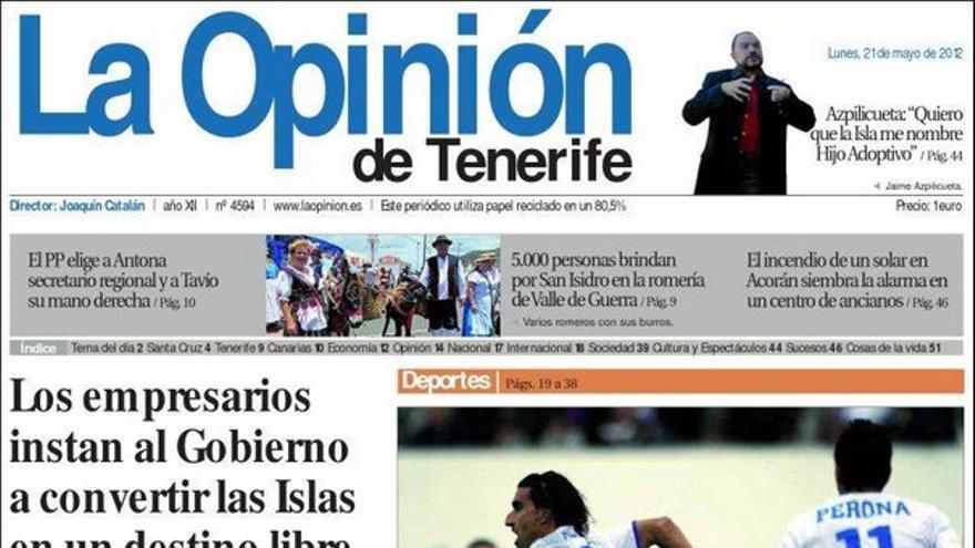 De las portadas del día (21/05/2012) #5